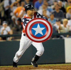 Jeter as Cap 300x294