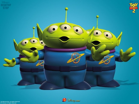 Little Green Men toy story 560x420