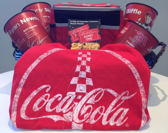 Coca Cola Carmike NASCAR Gift Basket 560x444