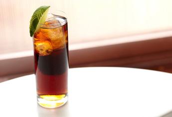 dark rum cola highball lime hero