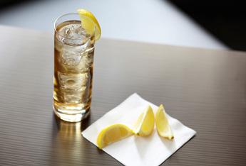 dark rum ginger highball lemon hero