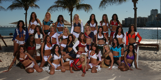 Cheerleaders NFL header