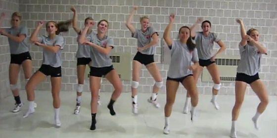 Gangnam Style Cornell Volleyball