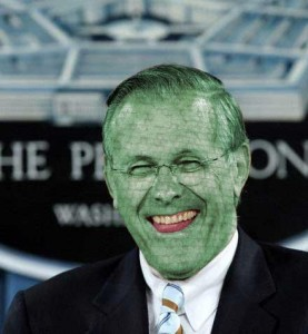 Donald Rumsfeld Lizard Person 277x300