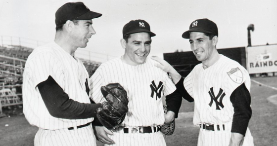 Joe DiMaggio Yogi Berra and Phil Rizzuto Have 27 World Series Rings Between Them 560x296
