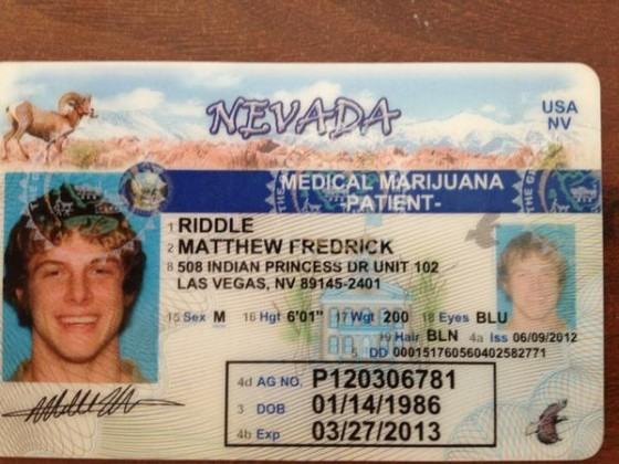 Matt Riddle Weed Card 560x420