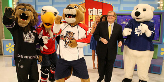 NHL Mascots Price is Right