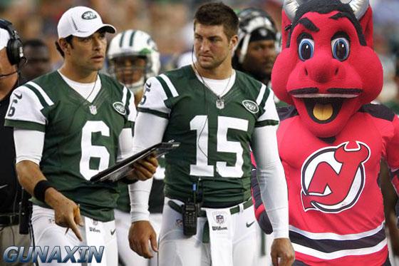 NJ Devil Mascot Jets Tebow