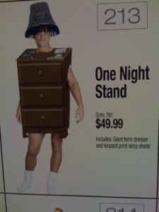 One Night Stand Funny Halloween Costume 225x300