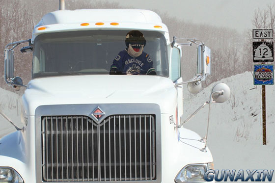 Vancouver Canucks Mascot Fin Ice Road Truckers