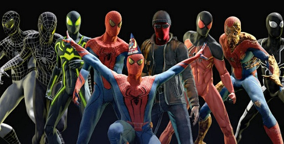 the amazing spider man game costumes
