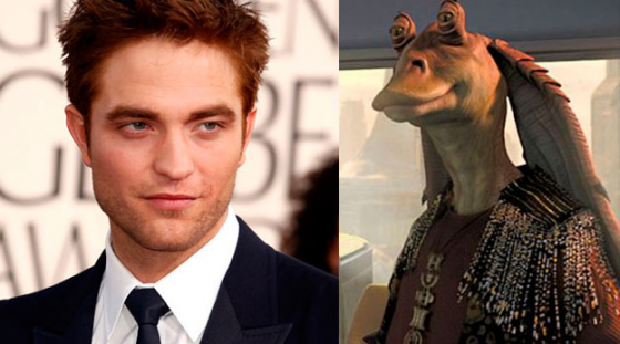 Pattinson and Jar Jar 560x311