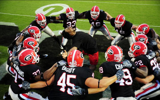georgia bulldog celebration 560x351