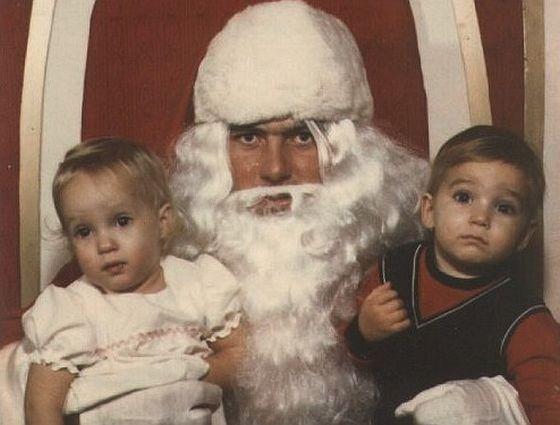 Creepy santa against his will