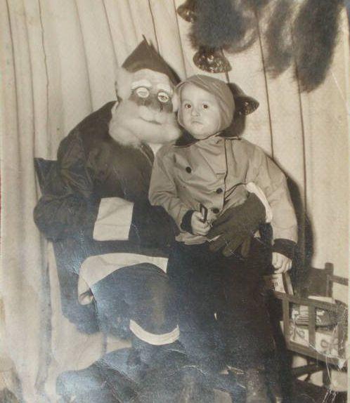 Creepy santa troll doll