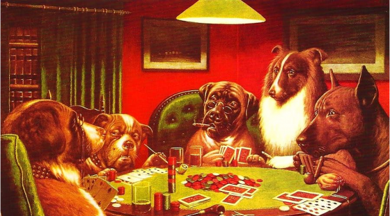 Dogs Playing Poker 560x311
