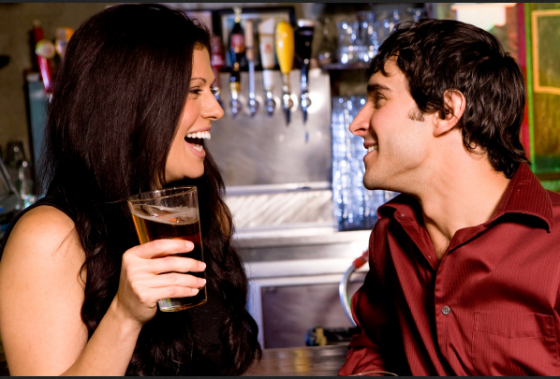 Woman Flirting With Man 560x379