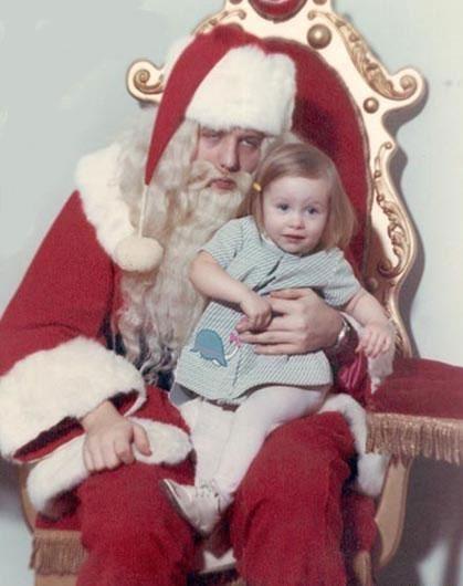 creepy hung over santa