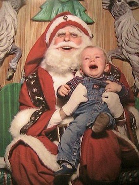 creepy laughing santa