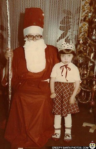 creepy pope Santa
