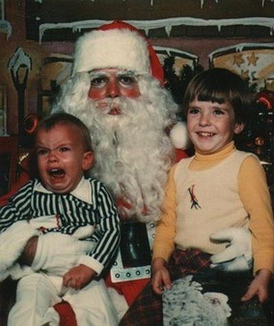 creepy santa too much makeup