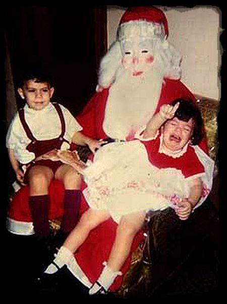 creepy santa white mask