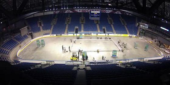 Ice hockey time lapse