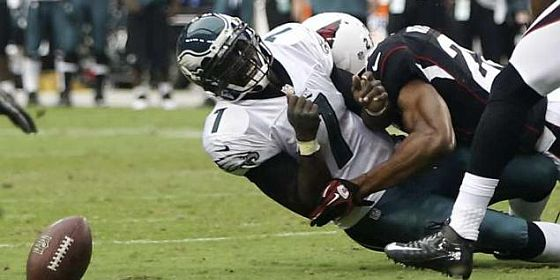 Mike Vick awful qb sack