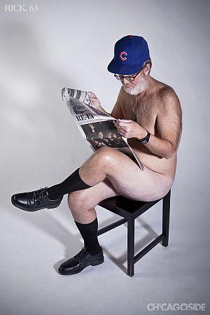 Naked Cubs fan