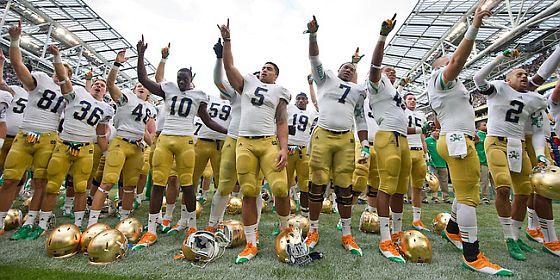 Notre Dame Football header