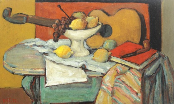 still life with guitar and fruit 1972 560x336