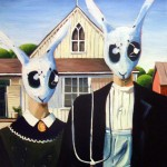 Classic Paintings with Rabbit Heads