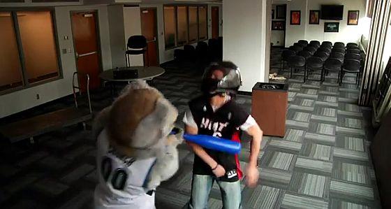 Heat fan beaten with bat