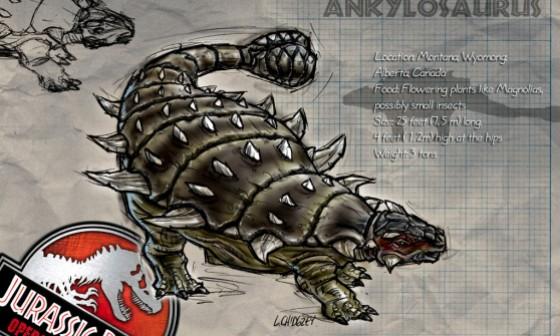 jurassic park ankylosaurus