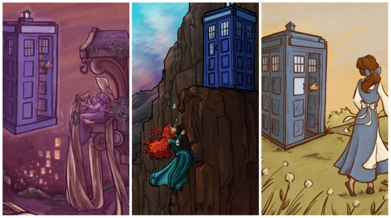 Tardis Disney Princesses 560x313