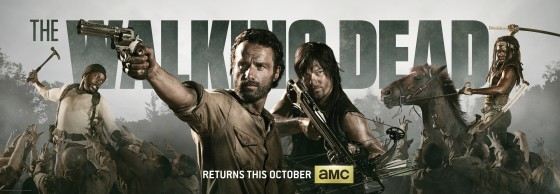 the walking dead season 4 official poster banner promo comic con 560x194
