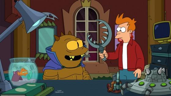 Futurama Jrrr Shows Fry His Fleem 560x315