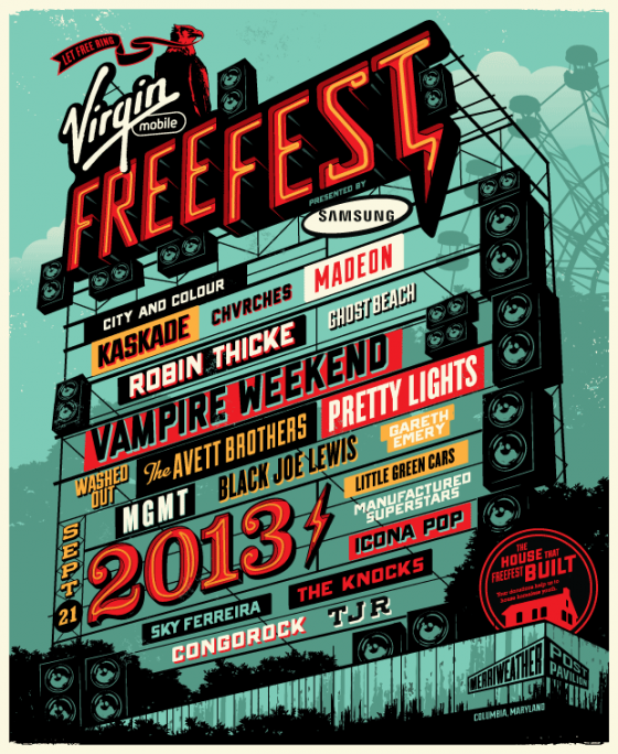 Virgin Freefest Lineup 560x684