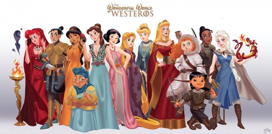 disney princesses as game of thrones 560x277