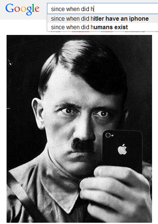 since when did hitler have an iphone