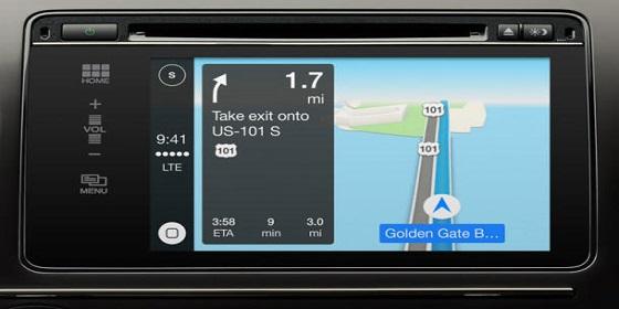 Apple CarPlay maps 610x377
