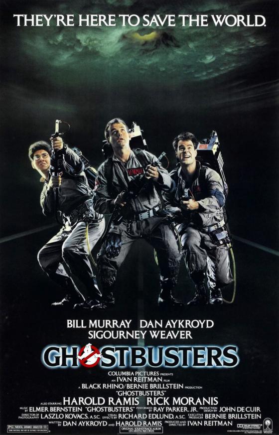 ghostbusters 1984 poster dan aykroyd bill murray harold ramis 560x873