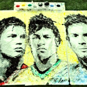 Painting With a Soccer Ball