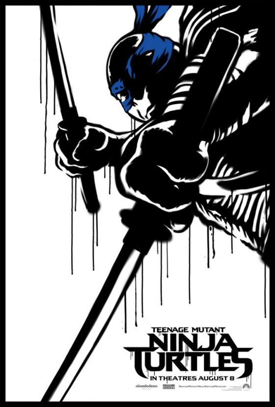 Teenage Mutant Ninja Turtle Street Poster Leonardo 560x828