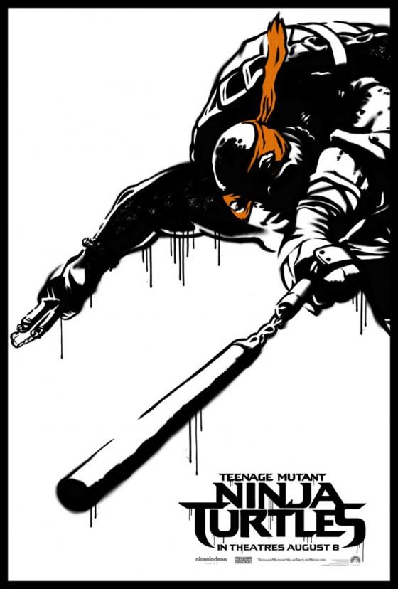 Teenage Mutant Ninja Turtle Street Poster Michaelangelo 560x828