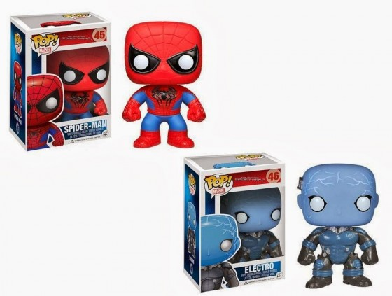 The Amazing Spider Man 2 Pop Marvel Vinyl Figures by Funko Spider Man Electro 560x423