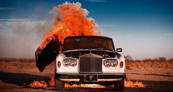 Exploding Rolls Royce e1413840790582