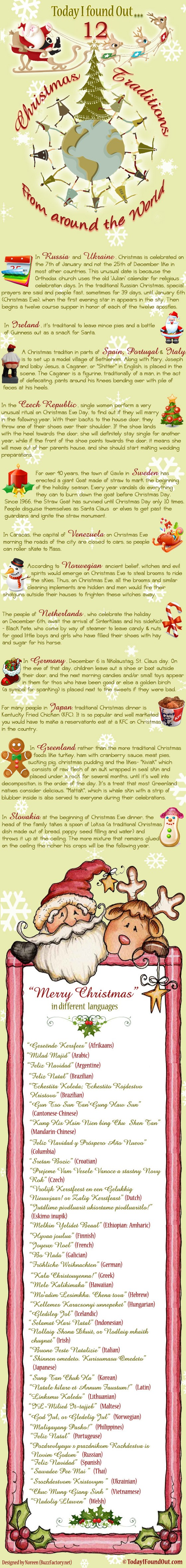 Christmas Traditions Infographic 560x4713