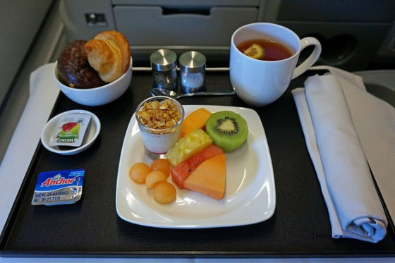 TransAsia Airways Meal 560x373