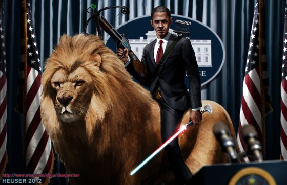 obama riding a lion by sharpwriter d5ftze6 560x362